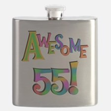 Awesome 55 Birthday Flask