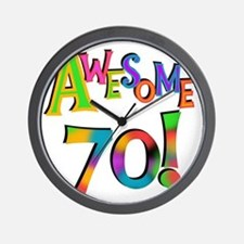 Awesome 70 Birthday Wall Clock