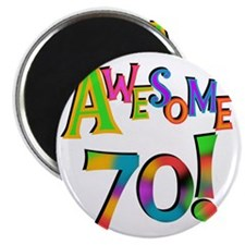 Awesome 70 Birthday Magnet