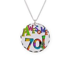 Awesome 70 Birthday Necklace Circle Charm