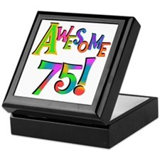 Awesome 75 Birthday Keepsake Box