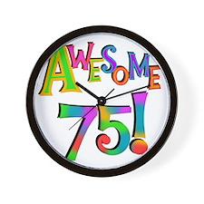 Awesome 75 Birthday Wall Clock
