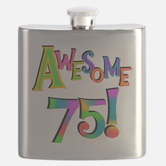 Awesome 75 Birthday Flask
