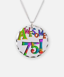 Awesome 75 Birthday Necklace