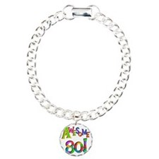 Awesome 80 Birthday Bracelet