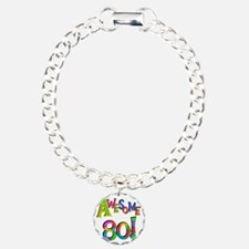 Awesome 80 Birthday Bracelet