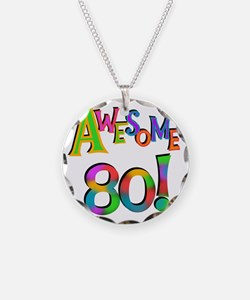 Awesome 80 Birthday Necklace