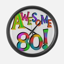 Awesome 80 Birthday Large Wall Clock