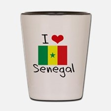I HEART SENEGAL FLAG Shot Glass