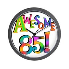Awesome 85 Birthday Wall Clock