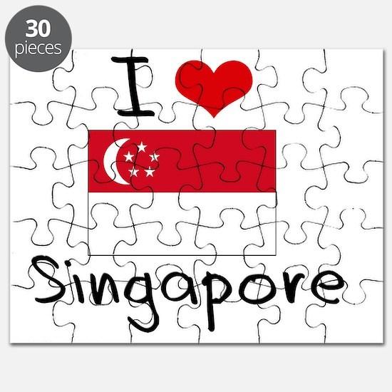 I HEART SINGAPORE FLAG Puzzle
