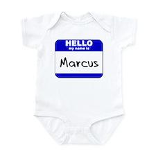 hello my name is marcus  Infant Bodysuit