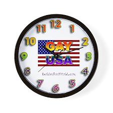 Gay USA Wall Clock
