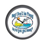 Bunny, Duck and Boat Wall Clock