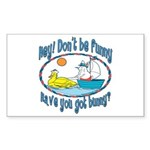 Bunny, Duck and Boat Rectangle Sticker