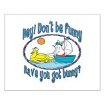 Bunny, Duck and Boat Small Poster