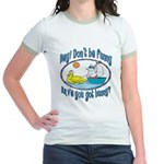 Bunny, Duck and Boat Jr. Ringer T-Shirt
