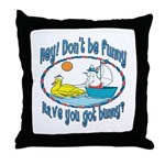 Bunny, Duck and Boat Throw Pillow