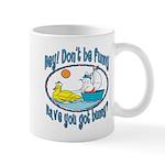 Bunny, Duck and Boat Mug