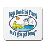Bunny, Duck and Boat Mousepad