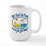 Bunny, Duck and Boat Large Mug