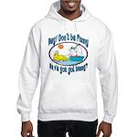 Bunny, Duck and Boat Hooded Sweatshirt