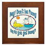 Bunny, Duck and Boat Framed Tile