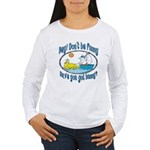 Bunny, Duck and Boat Women's Long Sleeve T-Shirt