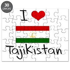 I HEART TAJIKISTAN FLAG Puzzle