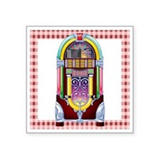 "1950 Jukebox Square Sticker 3"" x 3"""