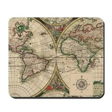 Antique Old World Map Mousepad