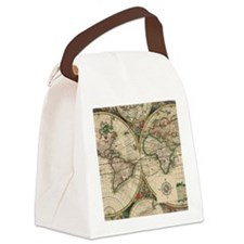 Antique Old World Map Canvas Lunch Bag