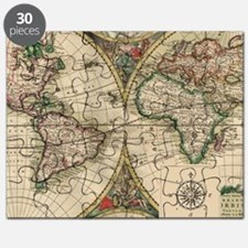 Antique Old World Map Puzzle