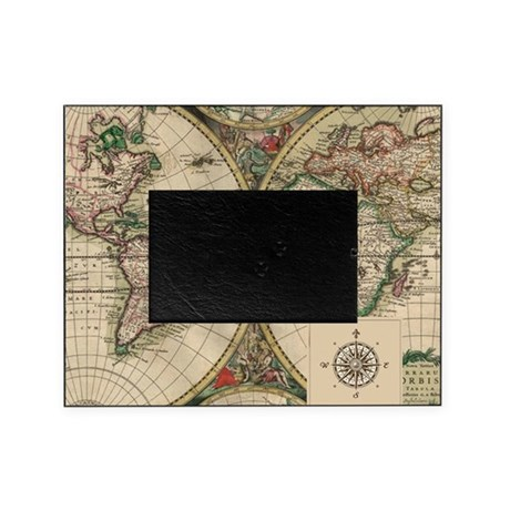 antique old world map picture frame by admin cp12474241. Black Bedroom Furniture Sets. Home Design Ideas