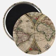 Antique Old World Map Magnet