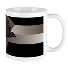 Black and Bronze Art Deco Tower Small Mugs