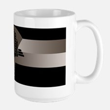 Black and Bronze Art Deco Tower Ceramic Mugs