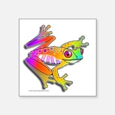 "Pop Art FROG Square Sticker 3"" x 3"""
