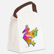 Pop Art FROG Canvas Lunch Bag