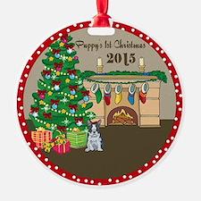 2015 Boston Terriers 1St Christmas Ornament