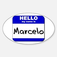 hello my name is marcelo Oval Decal