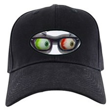 Look Out! Bloodshot Eyebal Glasses Baseball Hat