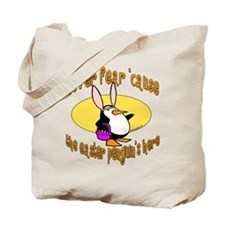 Easter Penguin Bunny Tote Bag
