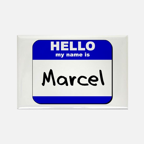 hello my name is marcel Rectangle Magnet