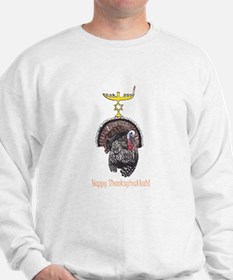 Happy Thanksgivukkah Turkey and Menorah Sweatshirt