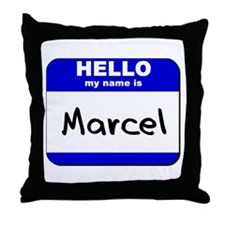 hello my name is marcel  Throw Pillow