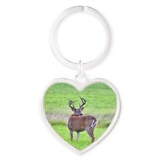 8 pt looking over back Heart Keychain
