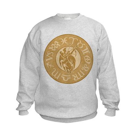 Sagittarius Astrology Sign Symbol Kids Sweatshirt