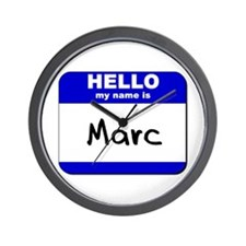 hello my name is marc  Wall Clock