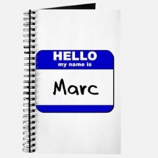 hello my name is marc Journal